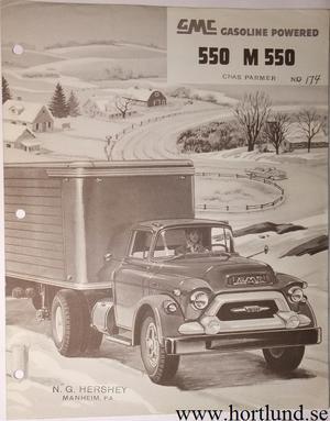 1955 GMC 550 M550 Truck Broschyr
