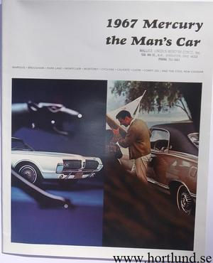 1967 Mercury alla mod broschyr Lyx
