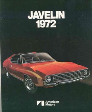 1972 AMC broschyr Javelin 1972