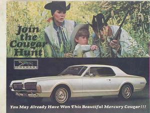 1967 Mercury Cougar broschyr lotteri