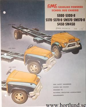 1955 GMC S300 S300-8 S370 S370-8 SM370 SM370-8 S450 SM450 Bus Broschyr