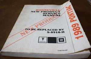 1989 Pontiac Bonneville New Product Service Manual