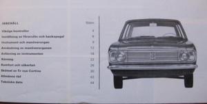 1967 Ford Cortina instruktiondbok