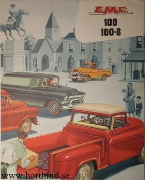 1956 GMC 100 100-8 Truck Broschyr