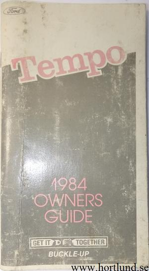 1984 Ford Tempo Owners Guide