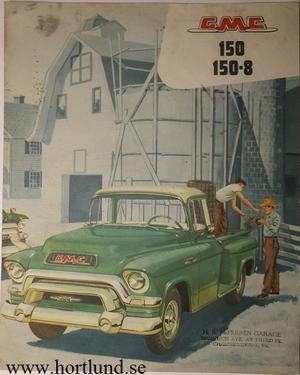1956 GMC 150 150-8 Truck Broschyr