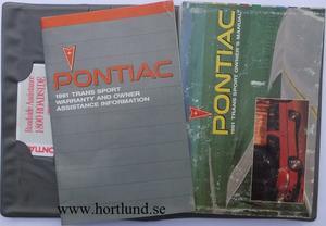 1991 Pontiac Trans Sport Owners Manual
