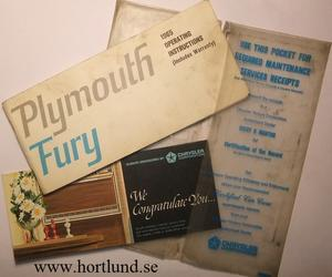 1965 Plymouth Fury Operating Instructions 2nd edition