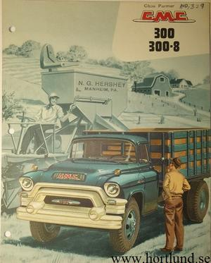 1956 GMC 300 300-8 Truck Broschyr