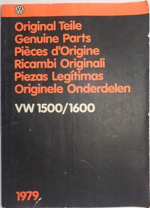1961 - 1973 Volkswagen VW Typ 3 1500/1600 Reservdelskatalog illustrationer