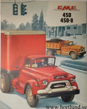 1956 GMC 450 450-8 Truck Broschyr