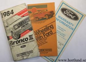1984 Ford Bronco II Owner Guide