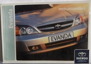 2005 Daewoo Evanda Instruktionsbok