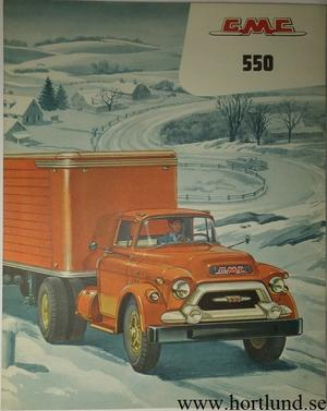1956 GMC 550 Truck Broschyr