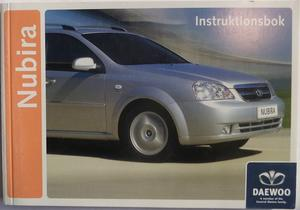 2005 Daewoo Nubira Instruktionsbok