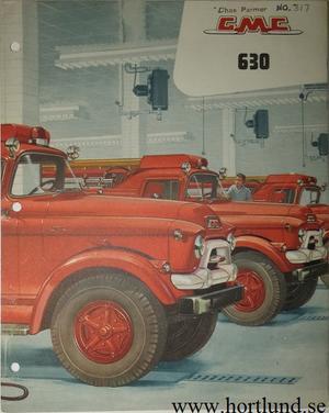 1956 GMC 630 Truck Broschyr Fire Truck Brandbil