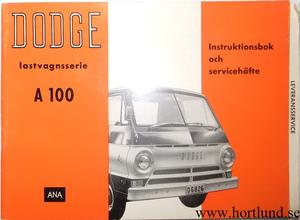1965 Dodge A 100 Instruktionsbok svensk