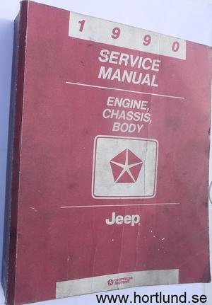 1990 Jeep Service Manual Engine, Chassis, Body