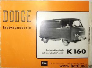 1965 Dodge K 160 Instruktionsbok svensk