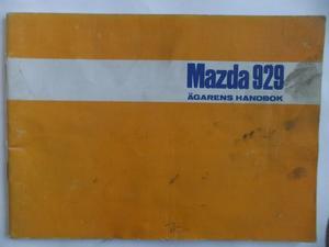 1975 Mazda 929 Instruktionsbok