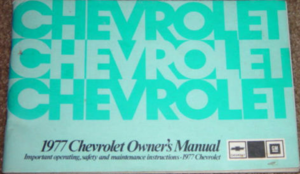 1977 Chevrolet Caprice & Impala Owners Manual