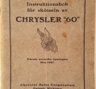 "1927 Chrysler ""60"" Instruktionsbok svensk"