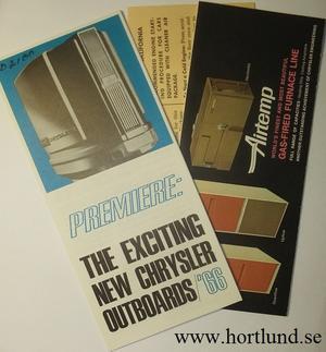 1966 Imperial, Chrysler, Plymouth, Valiant, Barracuda, Dodge och Dart Bilagor till Instruktionsboken