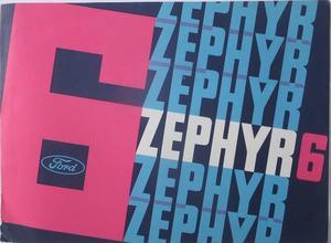 1963 Ford Zephyr 6 broschyr