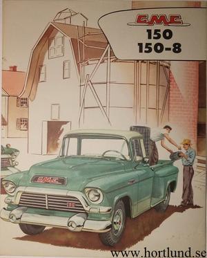 1957 GMC 150 150-8 Truck Broschyr