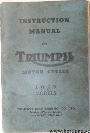 1950 Triumph Instruction Manual