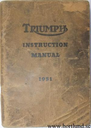 1951 Triumph Instruction Manual