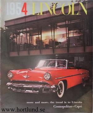 1954 Lincoln Lyxbroschyr