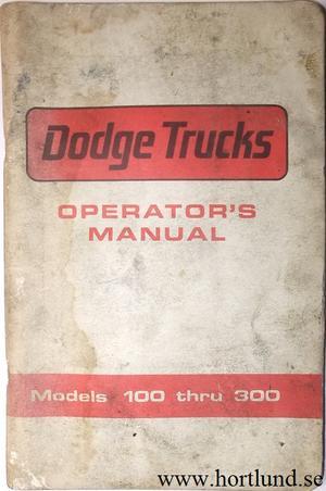 1966 Dodge Truck 100-300 Operator's Manual