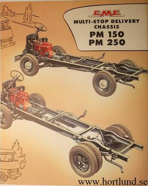 1957 GMC PM150 PM250 Truck Broschyr