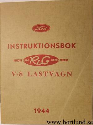 1944 Ford V8 Lastvagn Instruktionsbok svensk