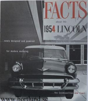 1954 Lincoln Facts about the... broschyr