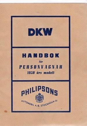 1950 DKW Instruktionsbok svensk