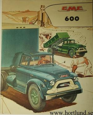 1957 GMC 600 Truck Broschyr