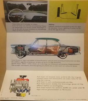 1961 Simca Ariane Miramas broschyr svensk