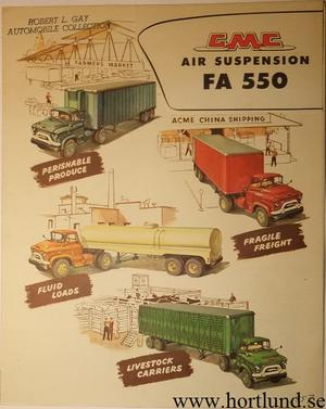 1957 GMC FA550 Air Suspension Truck Broschyr