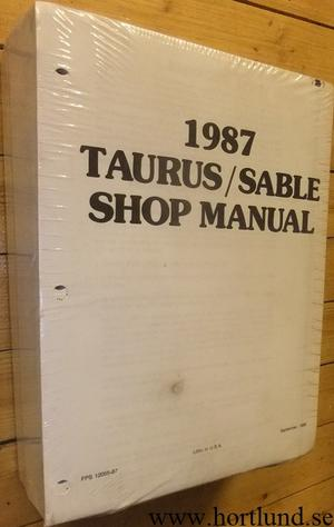 1987 Ford Taurus / Mercury Sable Shop Manual