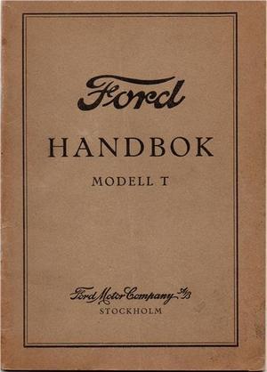 1927 Ford Model T Handbok svensk