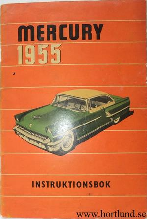 1955 Mercury Instruktionsbok svensk