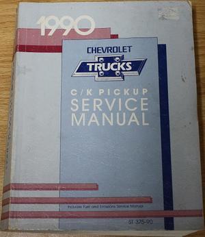 1990 Chevrolet Truck C-K Pick-up Service Manual