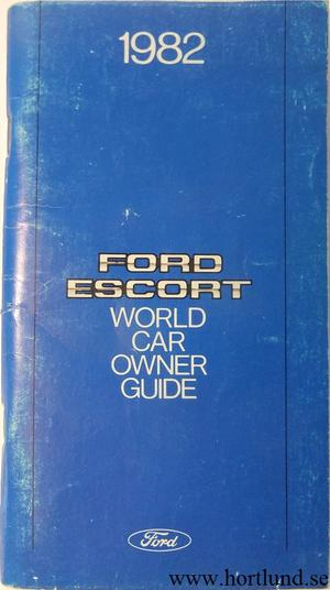 1982 Ford Escort Owner's Guide