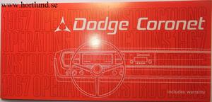1967 Dodge Coronet Operating Instructions