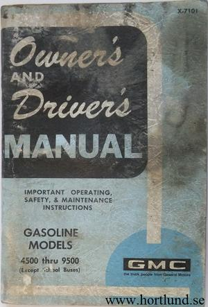 1971 GMC 4500-9500 Gasoline Truck Owner's Manual