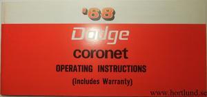 1968 Dodge Coronet Operating Instructions
