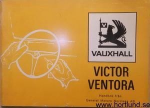1972 Vauxhall Victor och Ventora Instruktionsbok svensk