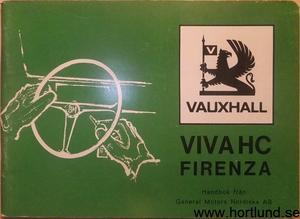 1972 Vauxhall Viva HC & Firenza Handbok svensk